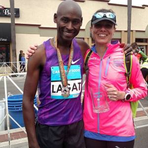 Renee Tolan and Bernard Lagat